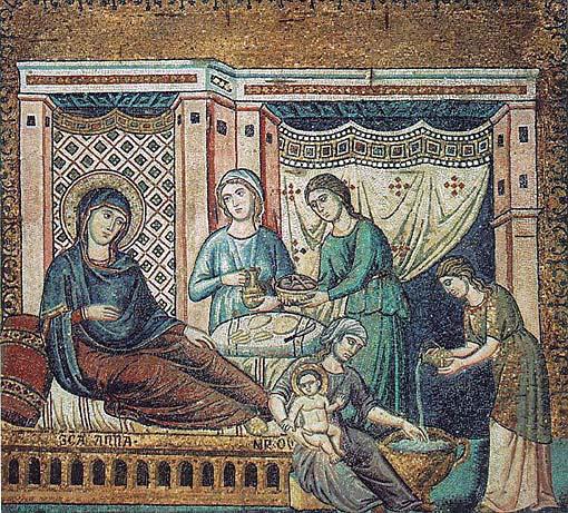 Nascita di Maria - Pietro Cavallini