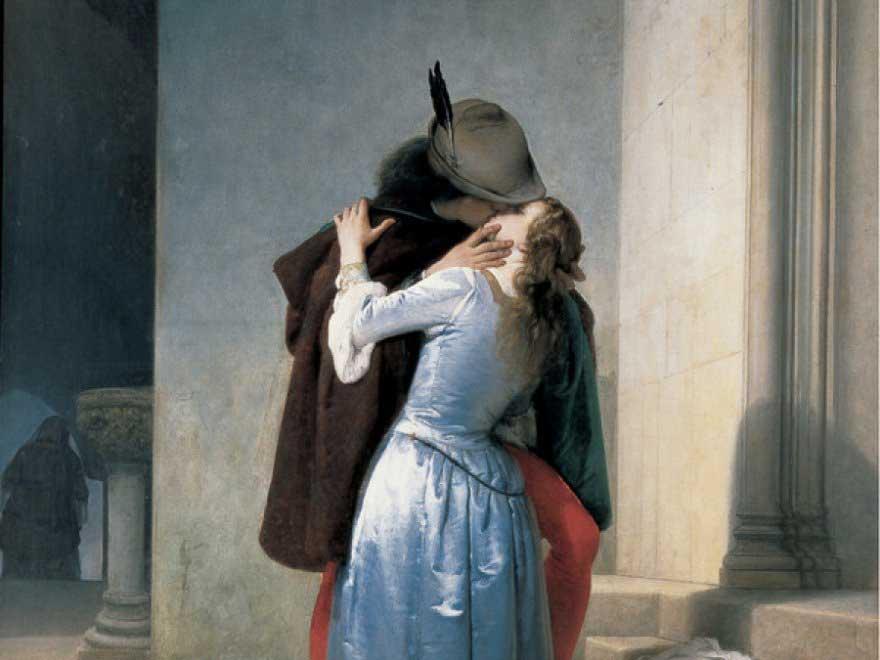 Il bacio - Francesco Heyez